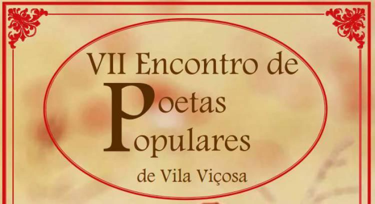 VII Encontro de Poetas Populares de Vila Viçosa no próximo dia 27 de outubro