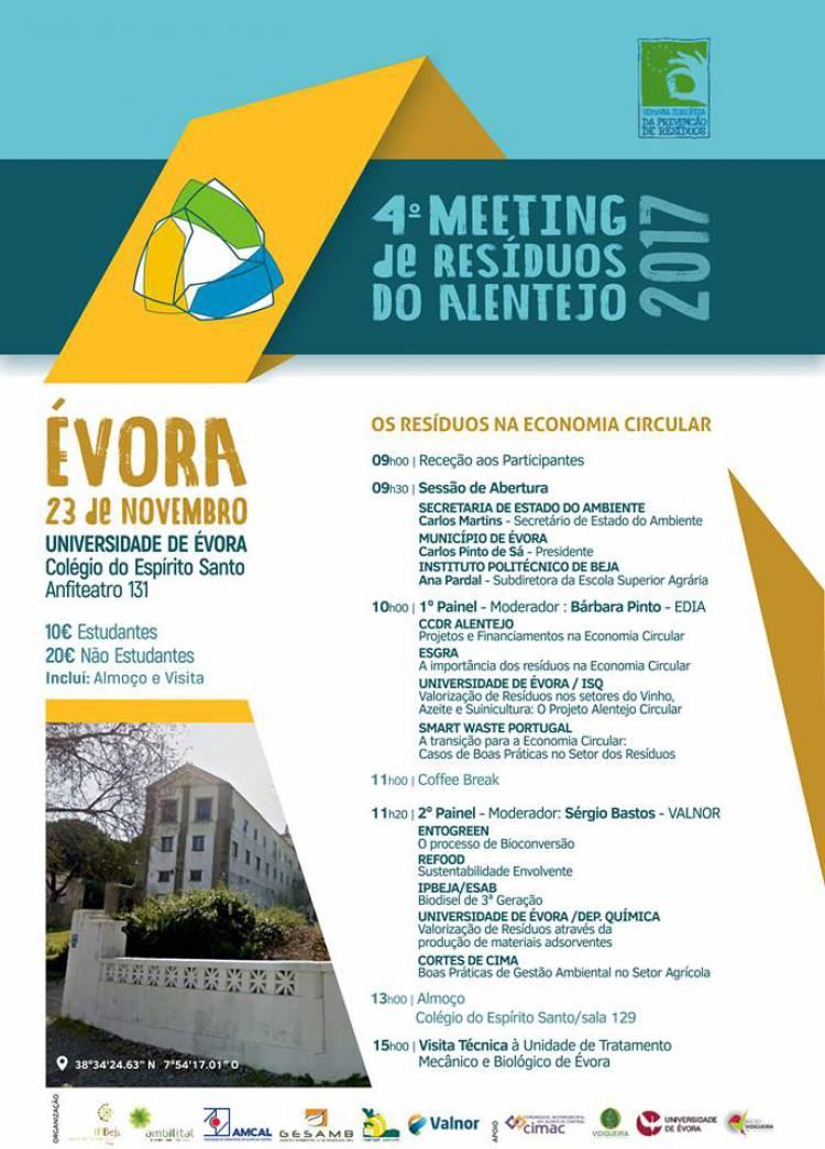 Évora recebe 4º Meeting de Resíduos do Alentejo
