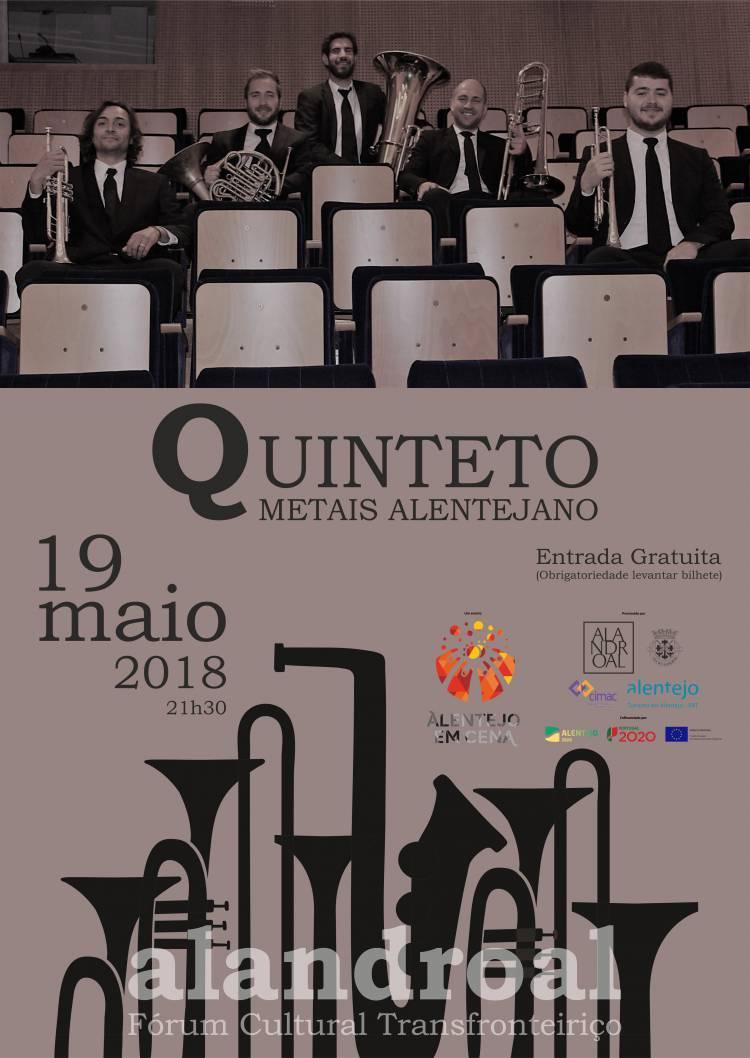 Quinteto de Metais Alentejano atua este sábado no Fórum de Alandroal