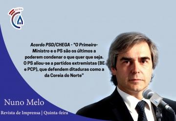 Comentário semanal do eurodeputado Nuno Melo aos microfones da Rádio Campanário (C/SOM)