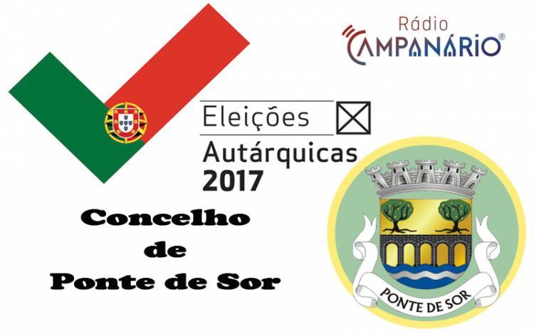 Autárquicas 2017: Os resultados eleitorais do concelho de Ponte de Sor (c/dados)