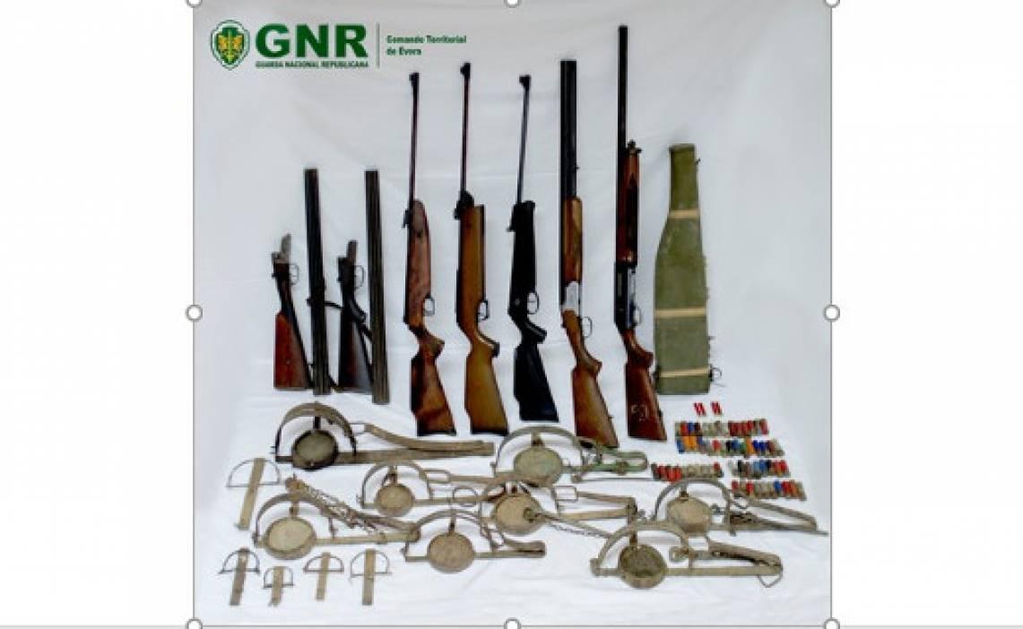 GNR apreende armamento ilegal e armadilhas de ferro para captura de animais em Portel