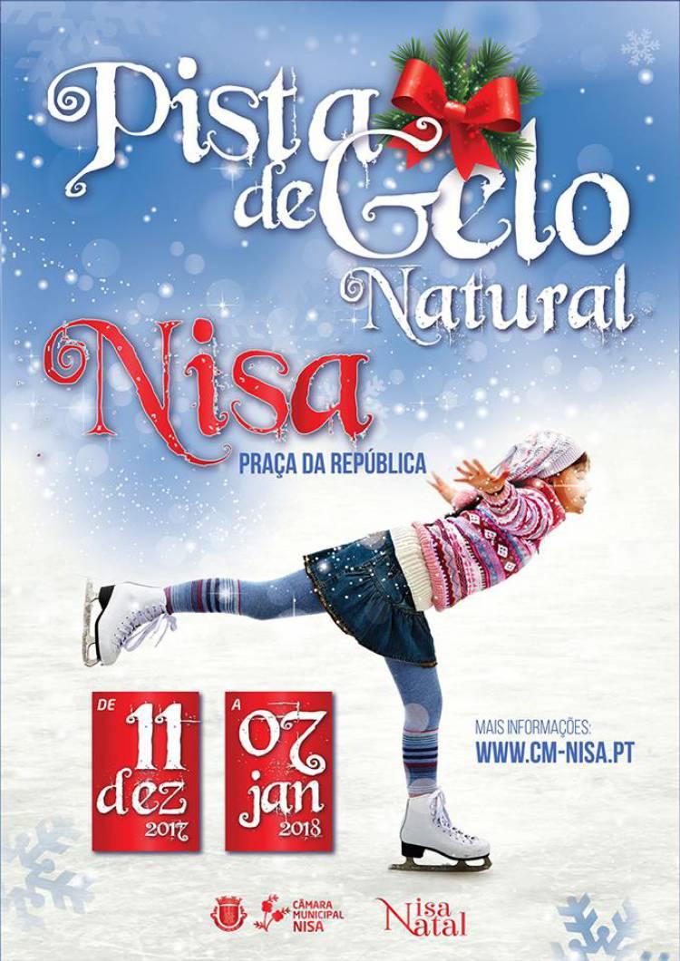 Nisa festeja o natal com pista de gelo