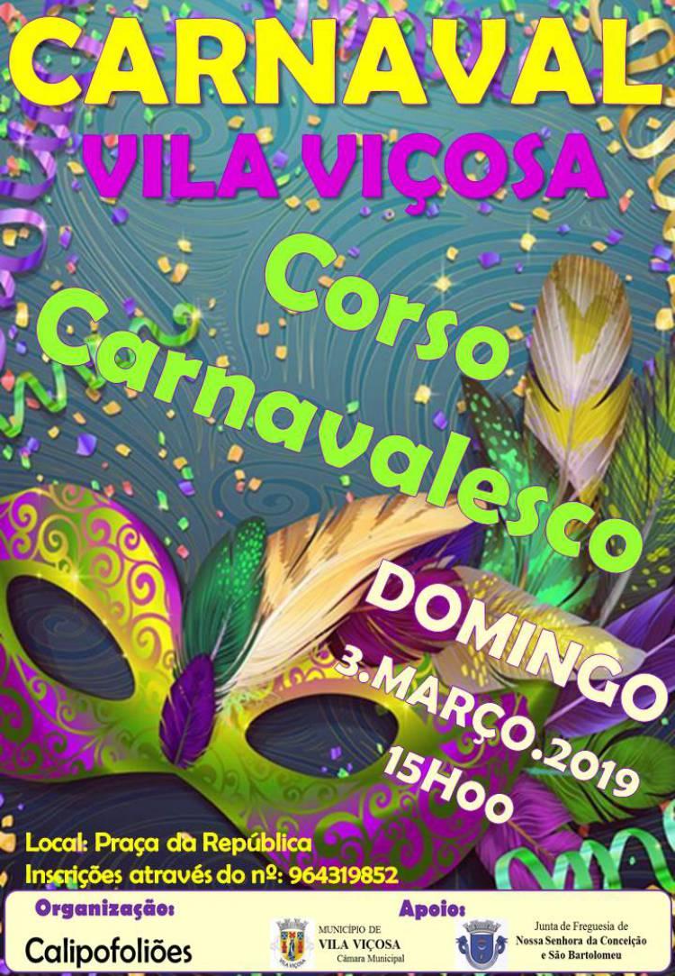 Corso Carnavalesco em Vila Viçosa dia 3 de março