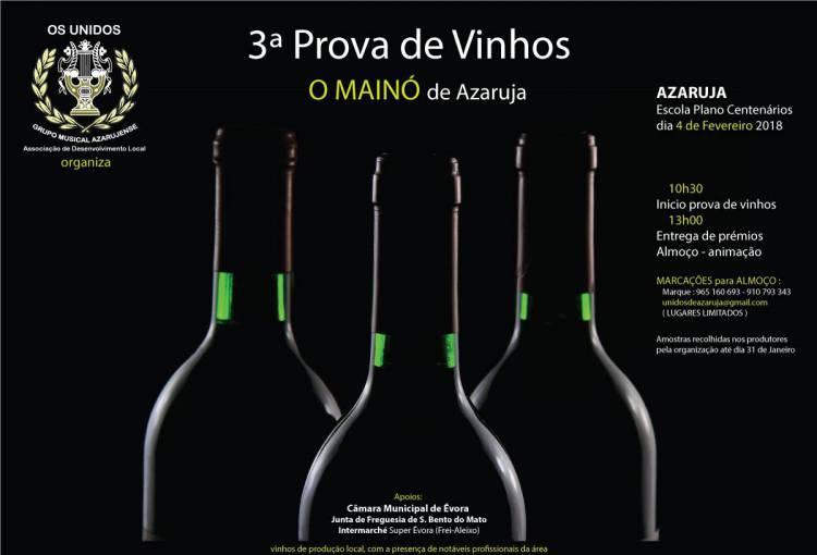 Associação Os Unidos de Azaruja promove prova de vinhos