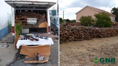 Grândola: GNR detém seis homens por furto de 10 toneladas de cortiça