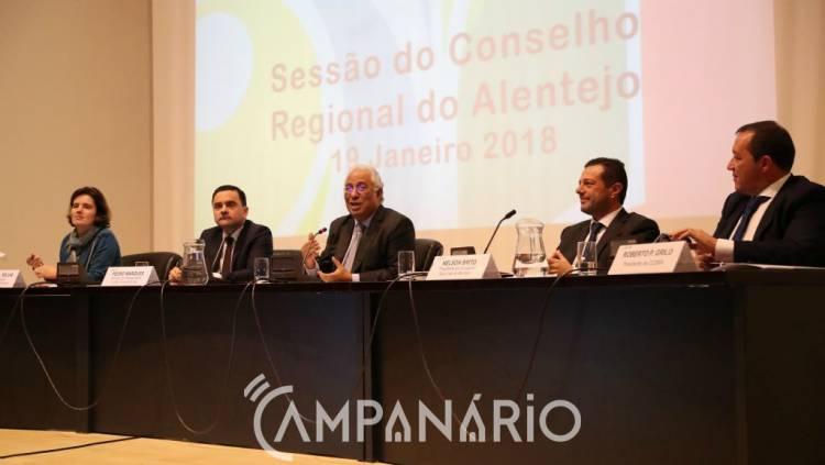 António Costa anuncia 40 milhões para obra do Hospital Central de Évora, no Conselho Regional na CCDR Alentejo (c/som e fotos)