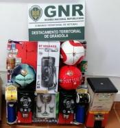 Grândola: GNR apreende máquinas de jogo ilegal e constitui arguido um homem de 30 anos