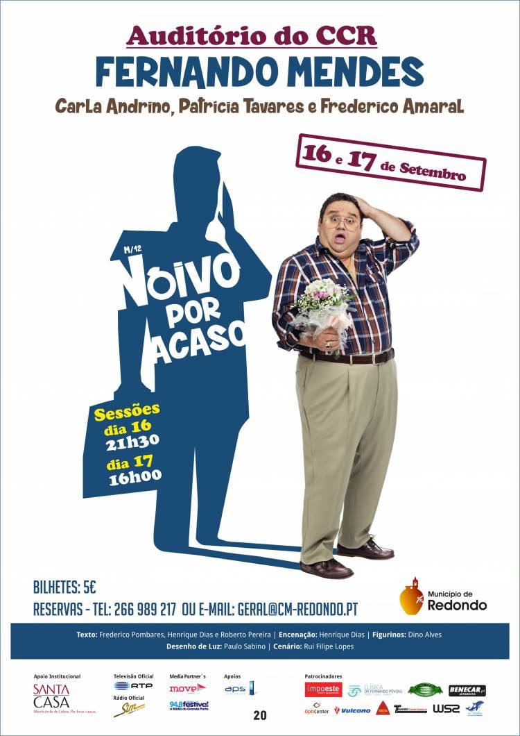 Teatro com Fernando Mendes este fim-de-semana no Centro Cultural de Redondo
