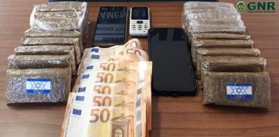 Dois detidos em Mértola que passaram a fronteira a pé e voltaram com 2kg de haxixe