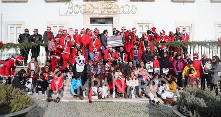 Passeio de Pais Natais do Motorklub de Alandroal distribuiu sorrisos pelas crianças e teve componente solidária (c/som e fotos)