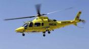Ferido grave do acidente em Moura transportado de helicóptero  para Hospital de São José