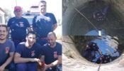 Bombeiros de Montemor-o-Novo resgatam galo preso em poço