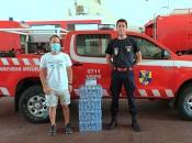 Monte Colmeal doa garrafas de água e máscaras de proteção individual aos Bombeiros Voluntários de Mourão