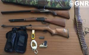GNR apreende armamento e detém individuo em caso de violência doméstica em Sousel