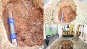 Nova rotura em Vila Viçosa na rua do antigo Hospital (c/fotos)