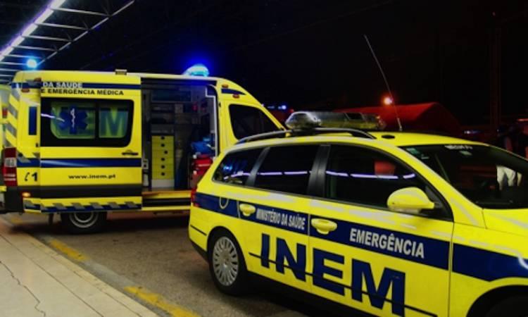 Colisão entre carro e carrinha provoca 9 feridos, 1 com gravidade, no IP2