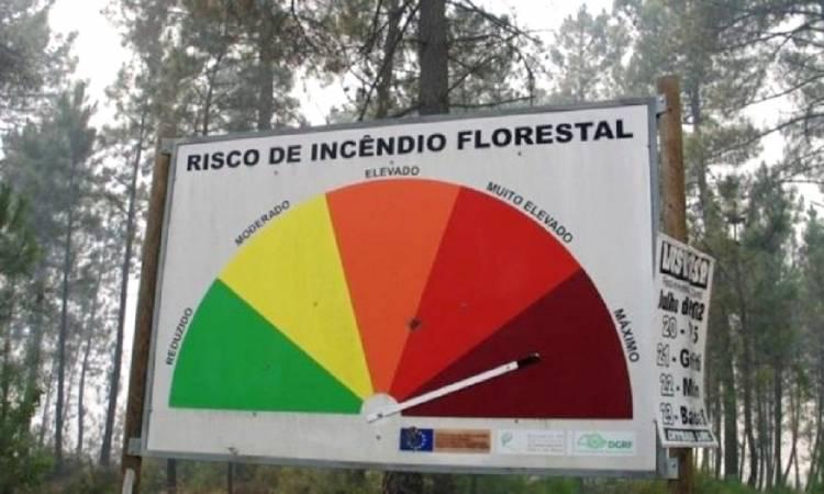 Fim-de-semana com risco Máximo de incêndio em 2 concelhos e Elevado em 21, dos distritos de Évora e Portalegre