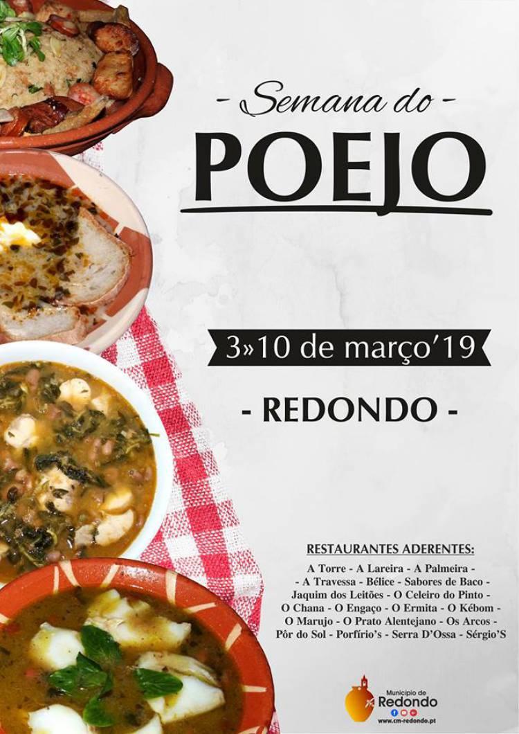 """""""Redondo 'Hà' Mesa"""" inicia março com Semana do Poejo"""