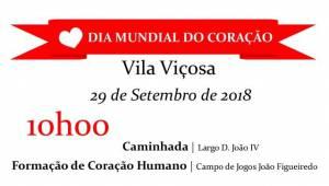 Vila Viçosa comemora sábado o Dia Mundial do Coração