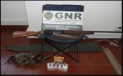Barrancos: GNR deteve homem de 36 anos pelo crime de caça ilegal