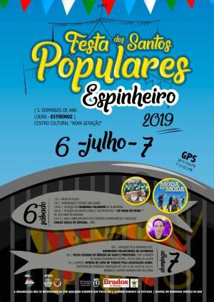 Estremoz: Espinheiro estará em festa de 6 a 7 de julho com Santos Populares