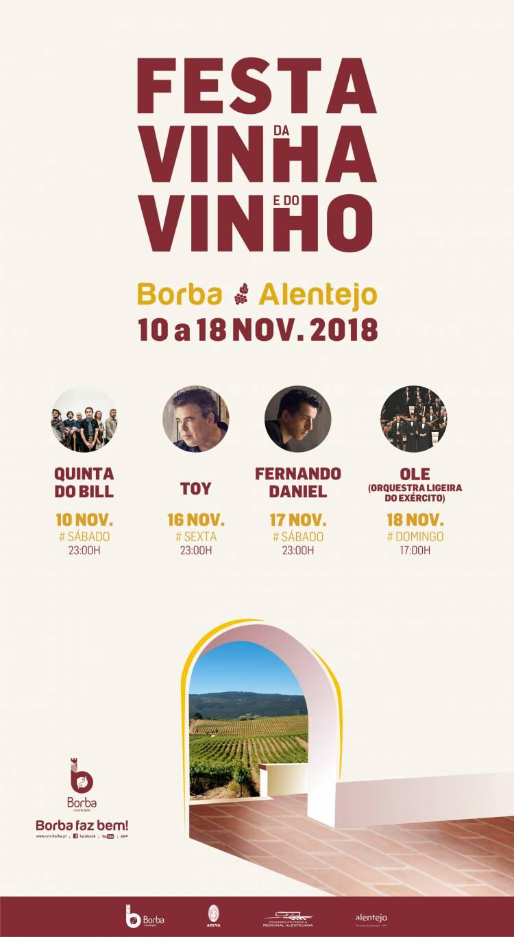 Festa da Vinha e do Vinho anima Borba de 10 a 18 de novembro