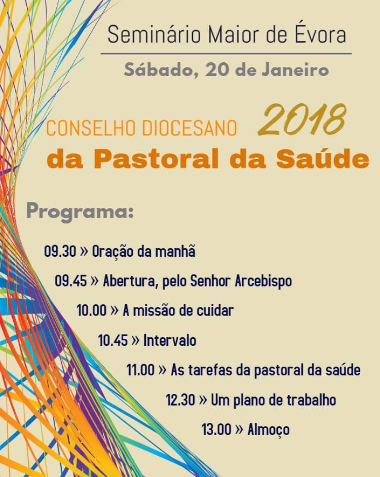 Seminário Maior de Évora recebe Conselho Diocesano da Pastoral da Saúde a 20 de Janeiro