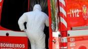 """""""Apesar da exclusão pelo SNS até Nov., os bombeiros já transportavam uma média de 100/200 doentes covid por mês, desde o início da pandemia"""" diz Inácio Esperança(c/som)"""