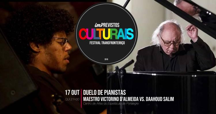 António Victorino D' Almeida e Daahoud Salim em 'duelo de pianistas' no Festival (IM) Previstos Culturais em Portalegre