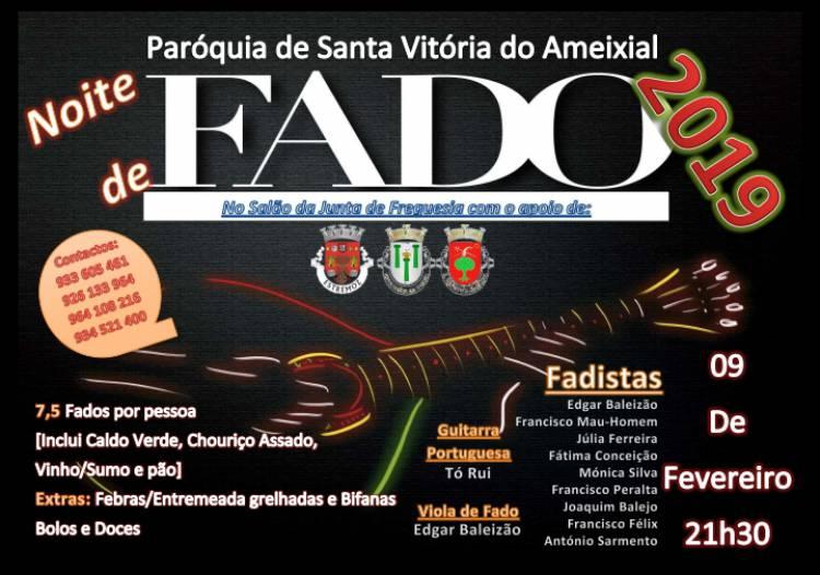 Estremoz: Noite de Fados em Santa Vitória do Ameixial a 9 de fevereiro