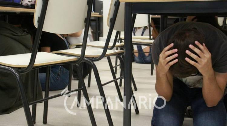 Centenas de alunos evacuados em escola de Elvas por precaução de réplicas do sismo, diz comandante dos Bombeiros (c/som)