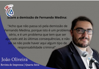 Comentário Semanal do deputado João Oliveira, aos microfones da Rádio Campanário (c/som)