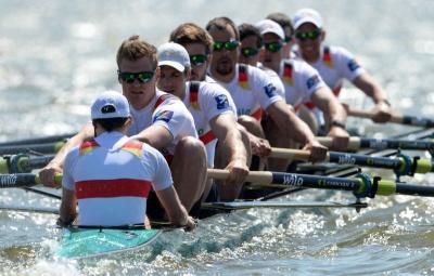 Campeões do Mundo e Remadores Olímpicos nas águas do Guadiana