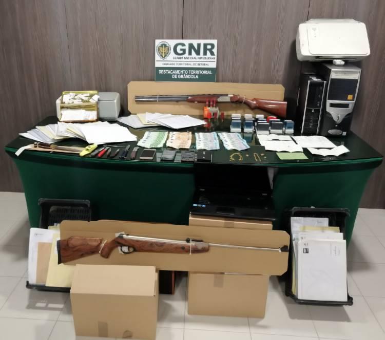 GNR de Grândola detém 6 homens e 2 mulheres por burla e falsificação