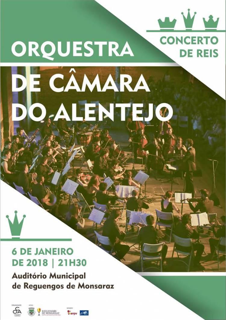 Concerto de Reis da Orquestra de Câmara do Alentejo, este sábado, em Reguengos de Monsaraz