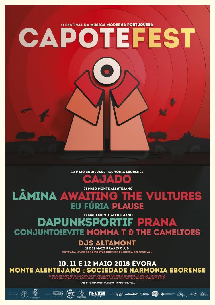 Évora recebe Capote Fest de 10 a 12 de maio