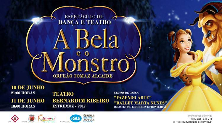 """Teatro Bernardim Ribeiro em Estremoz recebe espetáculo """"A Bela e o Monstro"""""""