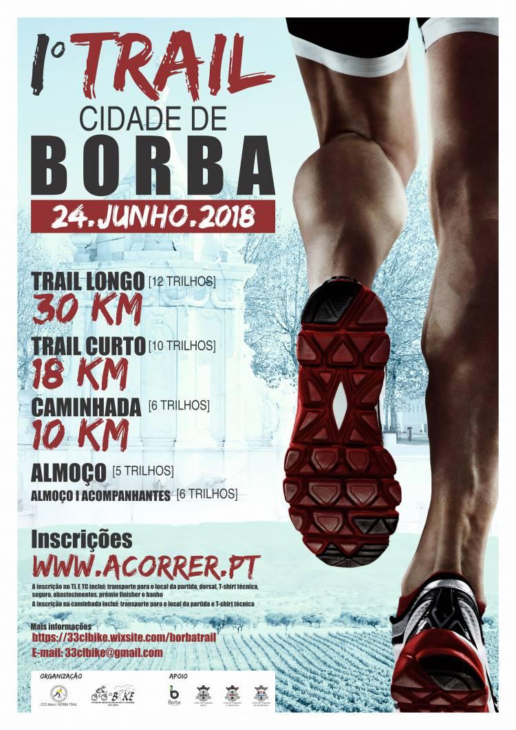 Em Junho realiza-se o 1º Trail Cidade de Borba