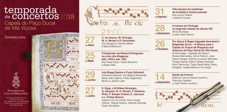 Música clássica está de regresso à Capela do Paço Ducal a 27 de Abril
