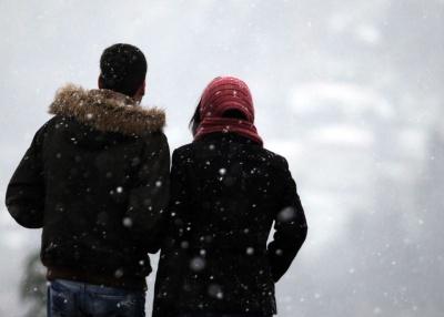 A neve caiu em várias localidades dos distritos de Évora e Portalegre