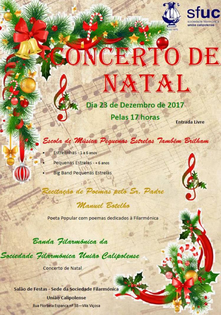 Banda Filarmónica Calipolense promove concerto de Natal