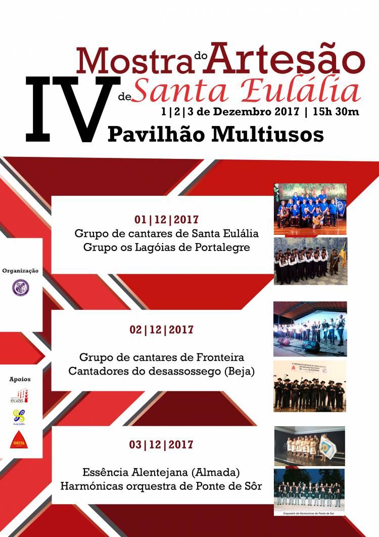 Santa Eulália recebe em dezembro IV Mostra do Artesão