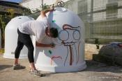 Jovens artistas dão vida aos contentores de Montemor-o-Novo