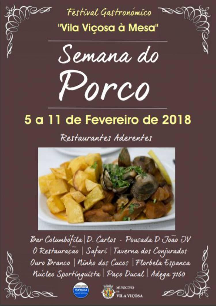 Está a decorrer em Vila Viçosa a semana gastronómica do porco