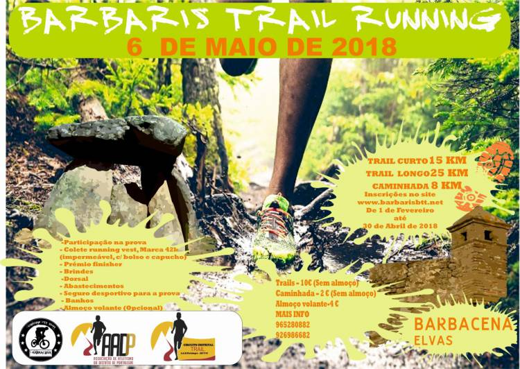 Freguesia de Barbacena recebe Trail Running a 6 de Maio