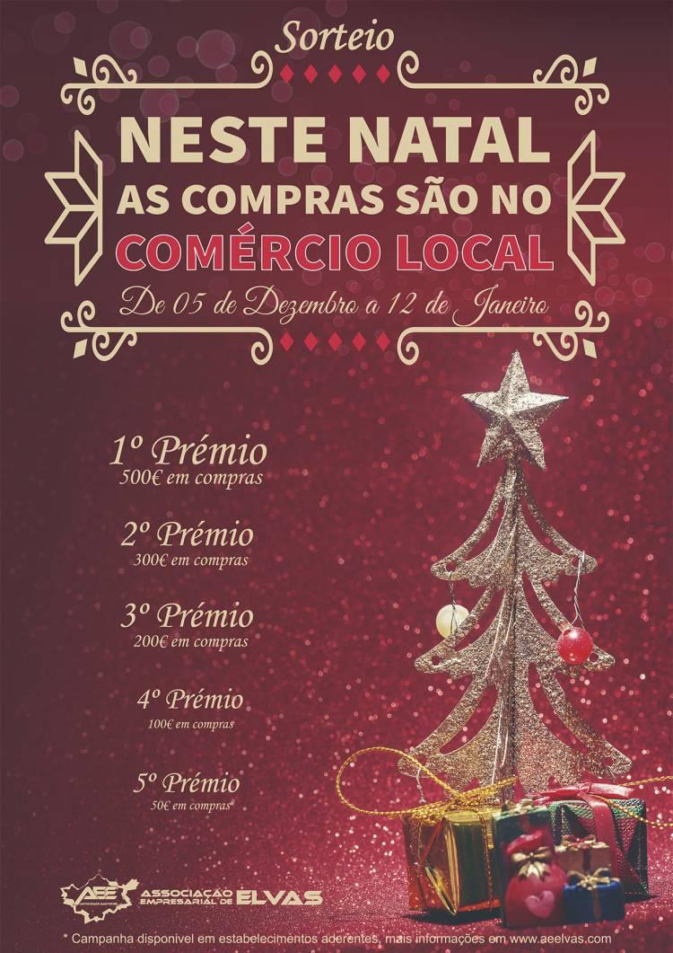 Assoc. Empresarial de Elvas premeia compras no comércio local neste Natal