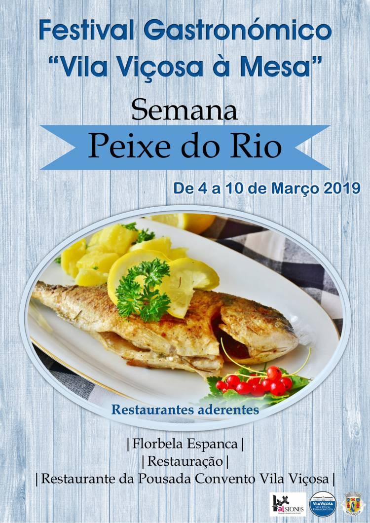 """Festival Gastronómico """"Vila Viçosa à Mesa"""" – Semana do Peixe do Rio de 4 a 10 Março"""