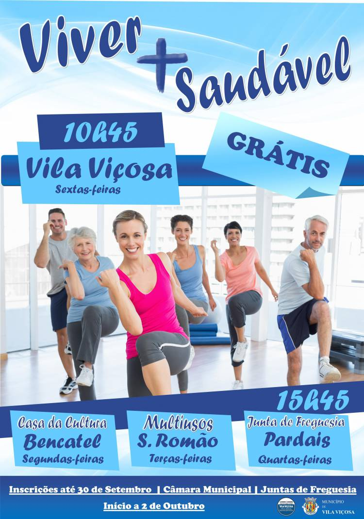 """""""Viver + Saudável"""" promove atividade física no concelho de Vila Viçosa"""