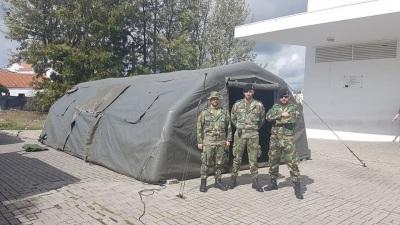 COVID-19: Exército Português disponibiliza 320 tendas e 10 camas no Alentejo